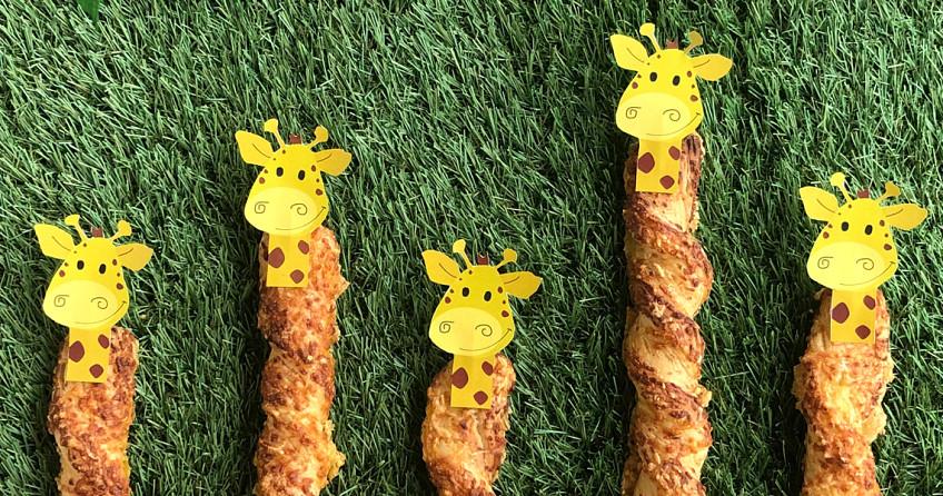 Traktatie: Knabbelstok giraffen
